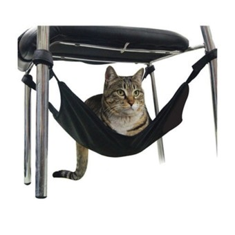 New Pet Cat Crib Cat Hanging Hammock Clutter Free Cat Bed Cage Comforter 40*40CM Black - intl