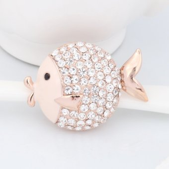 Harga Ya Bao xk10 fish diamond pin brooch