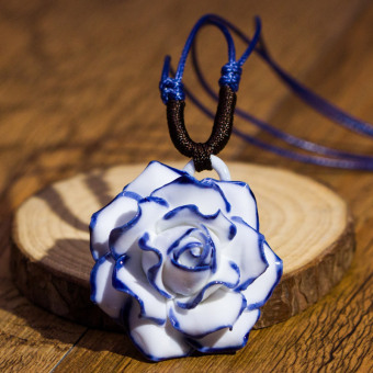 Harga Antiquity inn jingdezhen ceramic antique jewelry flower necklace female national wind retro accessories gift