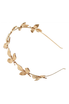 OEM New Fashion Elegant Women Lady Gold Color Leaf Leaves Headband Hair Clasp Gift