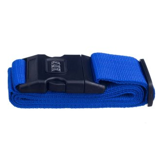 Harga BolehDeals Adjustable Luggage Strap Travel Tie Down Belt with Combination Lock Blue (EXPORT)
