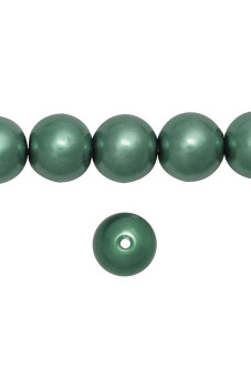 Harga 110pcs Round Glass Pearl Spacer Beads 8x8x8mm Dark Green