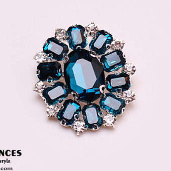 Harga High-grade glass crystal gemstone brooch