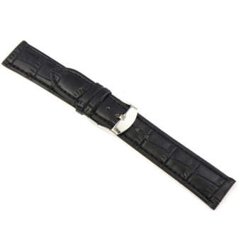 Fang Fang Leather Strap Wrist Watch Band 22mm (Black)