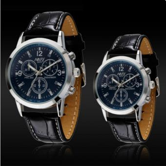 Harga Luxury Couple Leather Watches (Blue) - intl