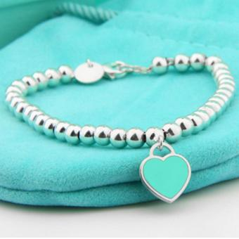 Harga Outlet Enamel love bracelet Blue - intl