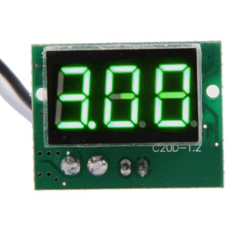 Harga Direct Current DC0 to 5A 0.36Inch Green Digital Display Ammeter Panel - intl