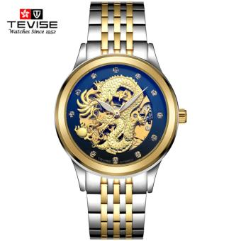 Harga TEVISE Dragon Dial Luxury Men Mechanical Watch Business Top Brand Mens Male Famous Watches Gift For Men - intl