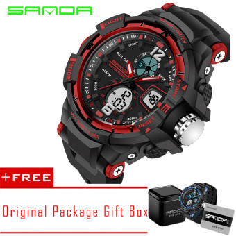 Harga SANDA 2016 New Fashion Outdoor Sports Men and Women Students Waterproof lovers Watch-Small(Size) - intl