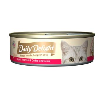 Harga Daily Delight Pure Skipjack Tuna White & Chicken with Shrimp (24 x 80g)