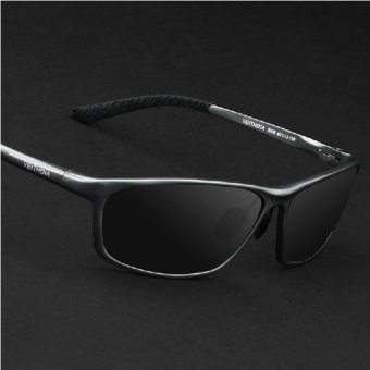 Harga VEITHDIA 6520 Polarized Sunglasses Men gun frame gray lens(Export)