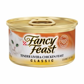 Harga FANCY FEAST Classic Tender Liver & Chicken Feast Cat Food 3oz (Case)