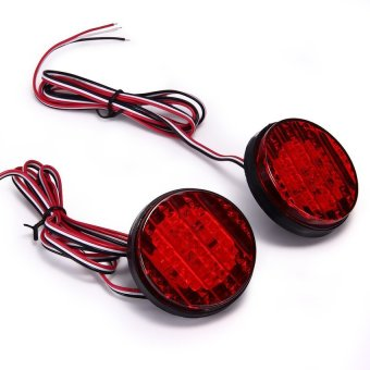 Harga Generic LED Rear Bumper Light Lamp Bulb Reflector for 08-13 Toyota Sequoia Red? 2pcs? (EXPORT)