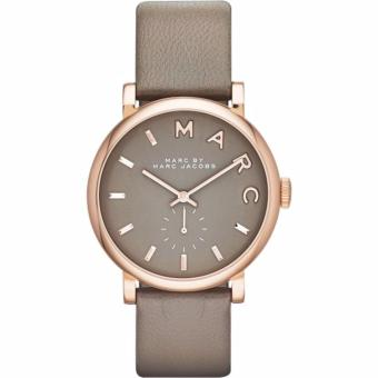 Harga Marc Jacobs Baker Grey Dial Gravel Grey Leather Ladies Watch MBM1266