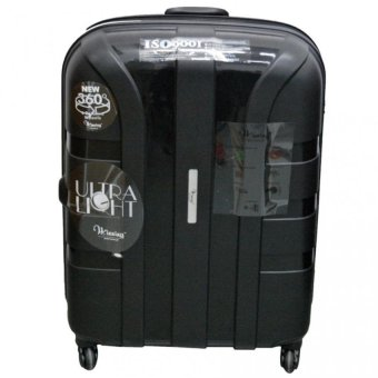 Harga Winning Heavy Duty ABS + Polypropylene Hard Case Luggage 26inch (Black)