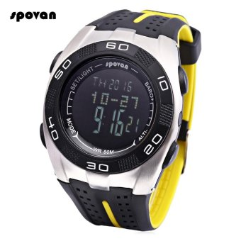 Harga S&L SPOVAN Blade 5 Digital Sports Watch Weather Forecast Altimeter Thermometer 5ATM Wristwatch (Black) - intl