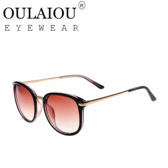 Harga Oulaiou Women's Fashion Accessories Anti-UV Trendy Sunglasses O736 - intl