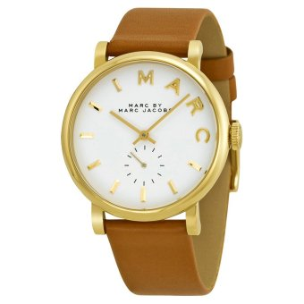 Harga Marc Jacobs MBM1316 Baker White Dial Brown Leather Ladies Watch