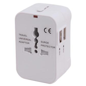 Harga 2016 New universal global multi-function socket adapter travel converter plug 5 Different Input Plugs Tightly Connect into 1 Adaptor(white)