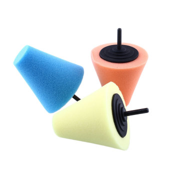 Harga OEM Burnishing Buffing Polishing Cone Sponge Metal Pad Car Wheel Hub Tool Shank