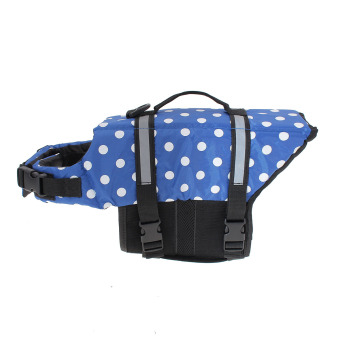 Harga Pet Aquatic Reflective Preserver Float Vest Dog Cat Saver Life Jacket New Blue Dot Size M - intl