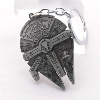 Harga 2016 NEW movie StarWars Millennium Falcon spaceship Flag keychain Alloy pendant jewelry Valentine's Day gift A - Intl