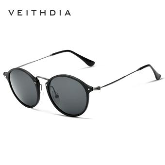 Harga VEITHDIA Brand Fashion Unisex Sun Glasses Polarized Coating Mirror Driving Sunglasses Round Male Eyewear For Men/Women 6358