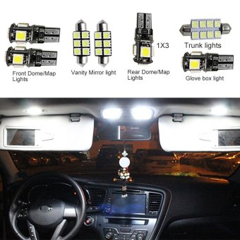 Harga For VW Golf5 MK5 Convenience Bulbs Car Led Interior Light C10W W5W Replacement Bulbs Dome Map Lamp Light Bright White 9 PCS Per Set - intl