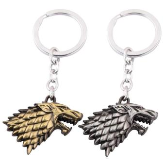 Harga MOSU Game of thrones House Stark Keychain Metal Key Rings silver - intl