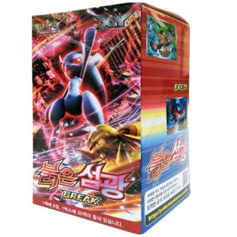 (2) Pokemon Card XY8 Booster Pack Box 30 Packs in 1 Box RED FLASH Korea Version TCG