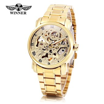 Harga Winner F1205217 Male Auto Mechanical Watch Hollow-out Dial Luminous Wristwatch - intl
