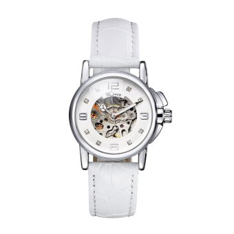 Harga WINNER Fashion OL Style Watch High Quality Hollowed-out Self-winding Automatic Mechanical Women Wristwatch (EXPORT)
