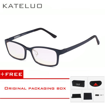 Harga KATELUO TUNGSTEN CARBON Computer Goggle Anti Blue Laser Fatigue Radiation-resistant Reading Glasses Frame Eyeglasses Oculos de grau 1310 (blue) [ Buy 1 Get 1 Freebie ]