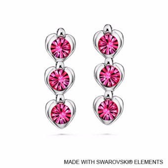 Harga Avril Earrings (Rose) - Crystals from Swarovski®