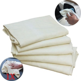 Harga PAlight Drying Cleaning Towe Car Natural Drying Chamois Deerskin Cleaning Cham Genuine Leather Cloth - intl