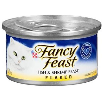 Harga Fancy Feast Flaked Fish and Shrimp Feast 85g 24pcs
