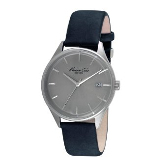 Harga Kenneth Cole - Classic Silver/Navy Leather Watch