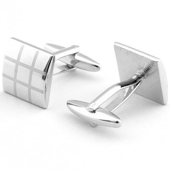 Harga MOON STORE Classic Laser Engraved Cufflinks - intl