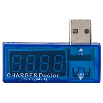 Harga Blue Portable USB Power Portable Mini Current and Voltage Tester Detector
