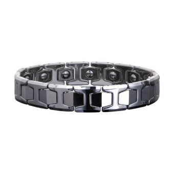 Harga FASHION MEN'S JEWELRY MAGNETIC THERAPY HEALING Tunsten Bracelet Silver (EXPORT)