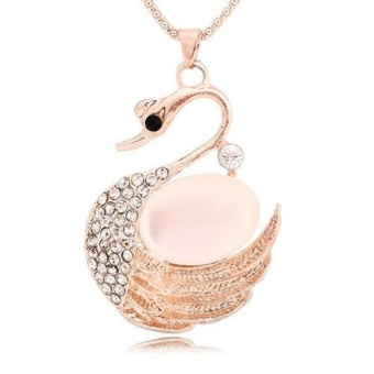M2 Korean Style Women's Long Necklace Fashion All-match Long Paragraph Sweater Chain Rose Gold