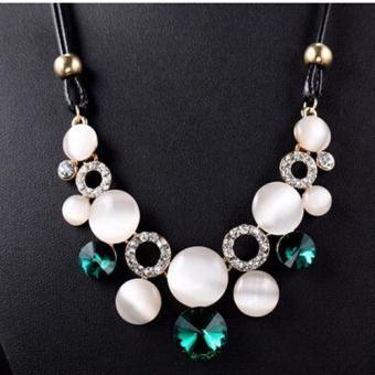 Missing U Women's Hollow Geometric Choker Collar Vintage Bohemia Rhinestone Chain Pendant & Necklace Jewelry for