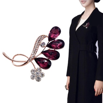 niceEshop Rhinestone Crystal Brooch Wedding Bridal Broach Pin Party Jewelry - intl