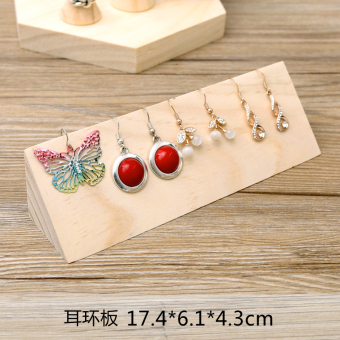 Original wooden earring holder ear wire jewelry display rackshowcase jewelry display window display props jewelry holder