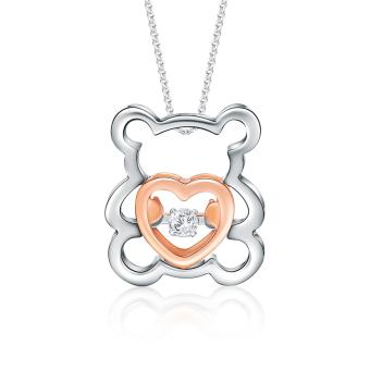 SK Jewellery Bear of Love Diamond Pendant