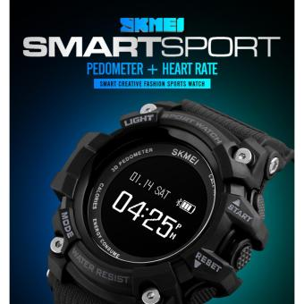 SKMEI Men Smart Sports Watches Pedometer Heart Rate Calorie Bluetooth Camera Outdoor Watch Multifunction Sleeping moitor