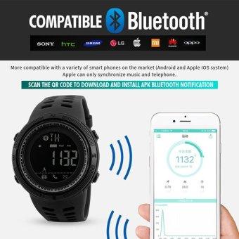 SKMEI Watch 1250 Men Smart Watch Bluetooth Pedometer Calories Chronograph Fashion Outdoor Sport Watches EL Backlight