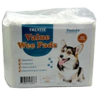 TRUSTIE VALUE WEE PADS (MEDIUM) (45x60)cm - 50pcs