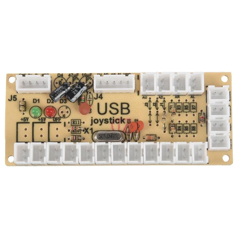 2X Zero Delay Arcade USB ENCODER PC TO JOYSTICK FOR 5PIN JOYSTICK & 2.8MM BUTTON