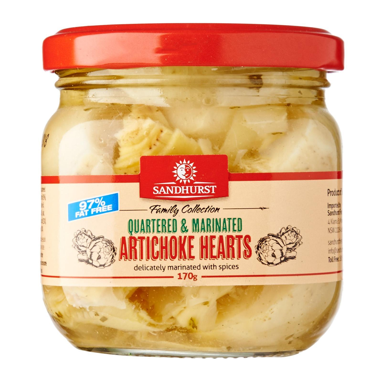Sandhurst Marinated And Quartered 99 Fat Free Artichoke Hearts Lazada Singapore